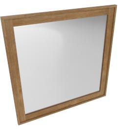 Springfield Mirror-L.Oak/A.Silver