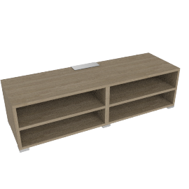 Match Media Storage Unit, Grey Ash