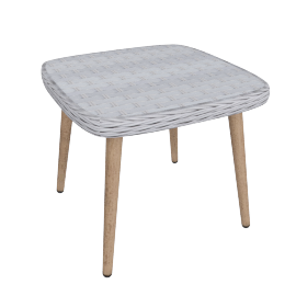 Rattatan EndTable, Grey