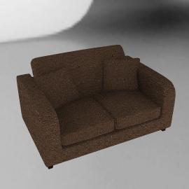 Mezzo Small Sofa, Cocoa