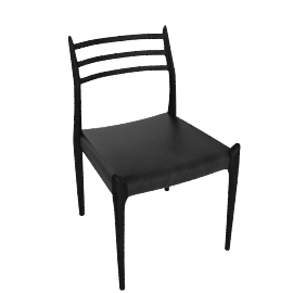 Moller Side Chair 78 - Black