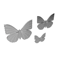 Butterfly Mirror, Set of 3