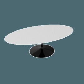 Saarinen Oval Dining Table 96'', Laminate - Black.White