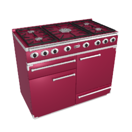 Falcon 1092 Dual Fuel Range Cooker, Cranberry / Brushed Nickel