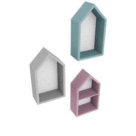 Eli Doll House Wall Shelf - Set of 3