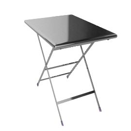 Arc En Ciel Folding Table - Aluminum