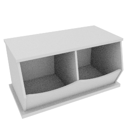 Storage Box Double, White
