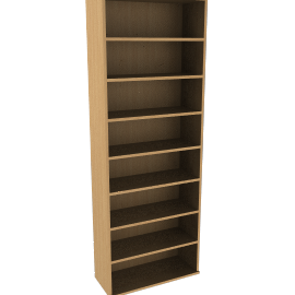 John Lewis Abacus 7 Shelf BookcaseOak