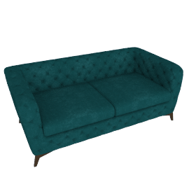 Sloan 2 Seater Sofa, Seafoam Blue Velvet