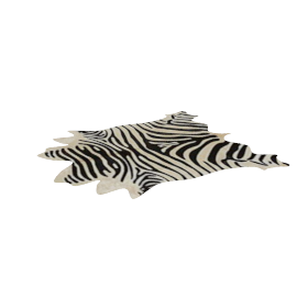 Cow Hide Rug, Zebra Print