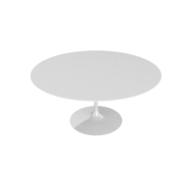 Saarinen Round Dining Table 60'', Laminate - White.White