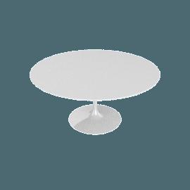 Saarinen Round Dining Table 60'', Laminate - White.White
