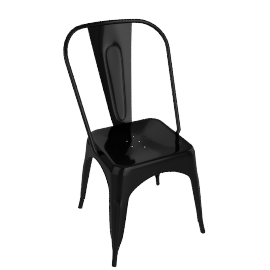 Pair of Legend Café Chairs, Black