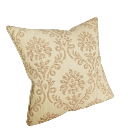 Quilted Damask Cushion, Gold