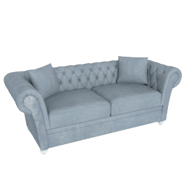 Ascot 3-Seater Sofa, Silver Grey