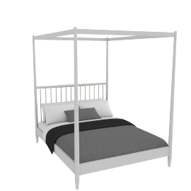 Lomond 4 Poster Bed French grey, king