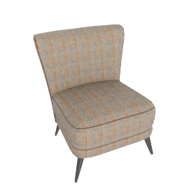 Harris Tweed Harmony Chair, Loden Herringbone