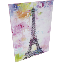 Paris in Colour Canvas Painting - 100x3x70 cms