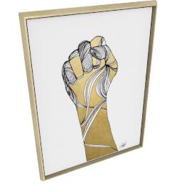 Sign Language XI by KelliEllis - 36''x48'', Gold