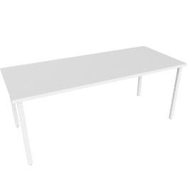 "Everywhere Rectangular Table 30"" x 72"", White Leg White Finish"