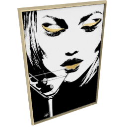 Glam Rock V by KelliEllis - 40''x58'', Gold