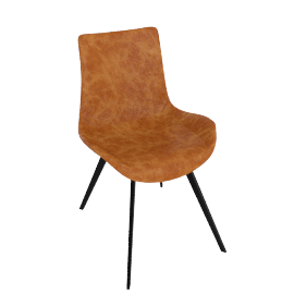 danform - HYPE CHAIR, light brown leather