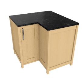 Hi-line L-shape Corner Base Unit, LH Opening (Modular Concept Kitchen)