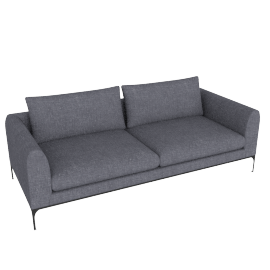 Jonas Sofa, Fabric: Pebble Weave Pumice Leg: Black