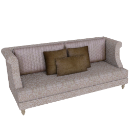 Juliette 3 Seater Beige and Gold