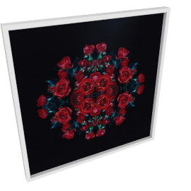 Meadow Roses Framed Canvas Print - 80x4.3x80 cms