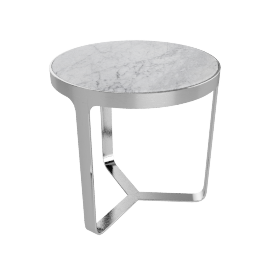 Cage Bedside Table, Carrara