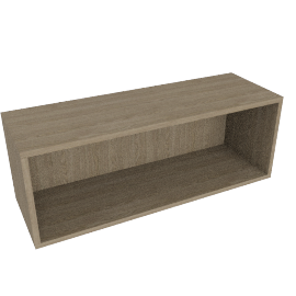 Match 60cm Open Shelf Unit, Grey Ash