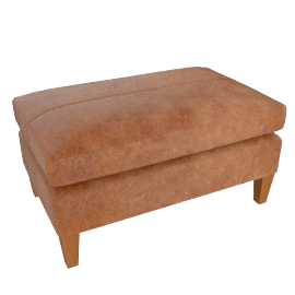 Bailey Footstool, Lustre Cappuccino