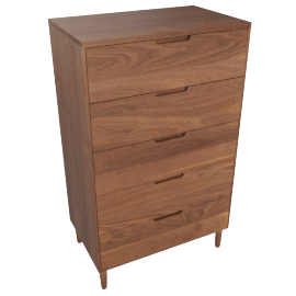 Raleigh Tall Dresser, Walnut