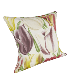 Sanderson 150th Anniversary Early Tulips Cushion, Cerise/Silver