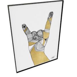 Sign Language IV by KelliEllis - 54''x72'', Black
