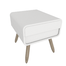 Esme bedside table, white
