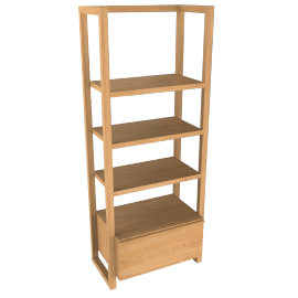 Lincoln Shelving Unit, 1 drawer