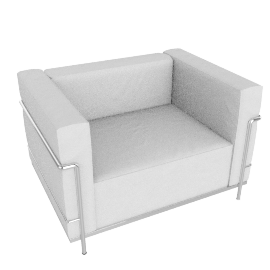 LC3 Grand Modele Armchair, Down Cushions