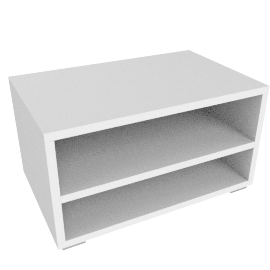 Match Low Storage Unit, White