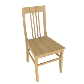 Quebec Dining Chair, Maple