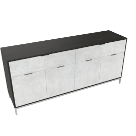 Blend 4-Drawer Buffet, Grey