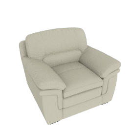 Taylor 1-Seater Sofa with Splayed Arms, White