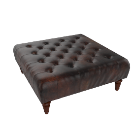 Stanford Footstool, Hand Antique
