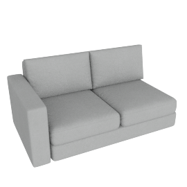 Eterno 2 Seater With Left Arm, Cloud