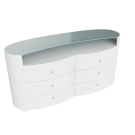 Wave Dresser (L) V, White