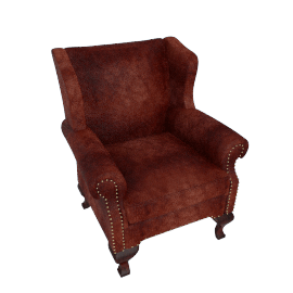 John Lewis Compton Leather Wing ChairAntiqued