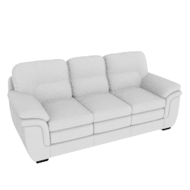 Taylor 3 Seater Full Leather Cream