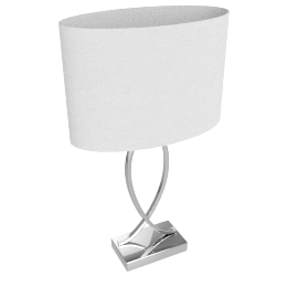John Lewis New Tom Table Touch Lamp, Chrome
