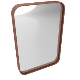 Adnet Rectangular Mirror, small, brown